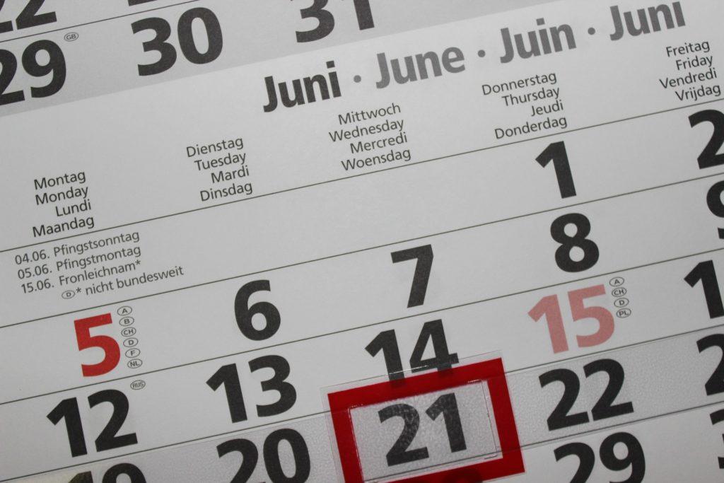 agenda juin 2019