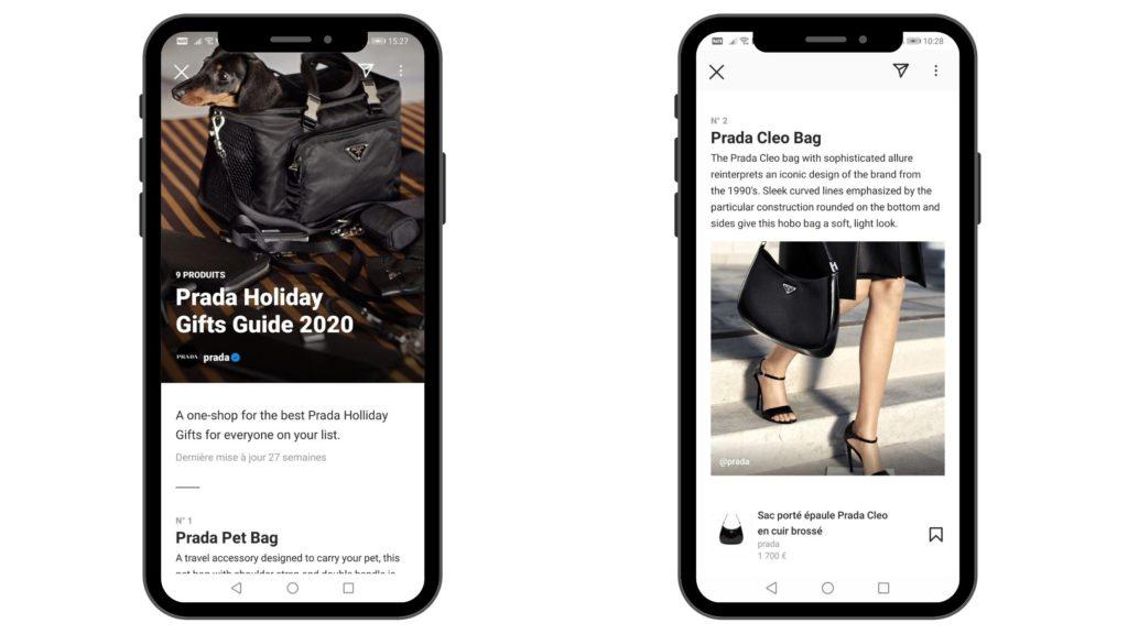 Guide Instagram de Prada